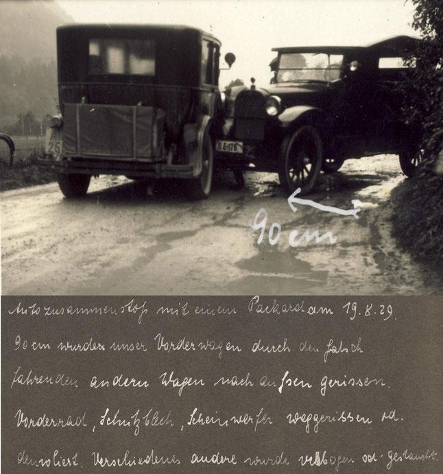 1929 Unfall