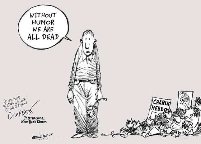 Satire-Cartoon