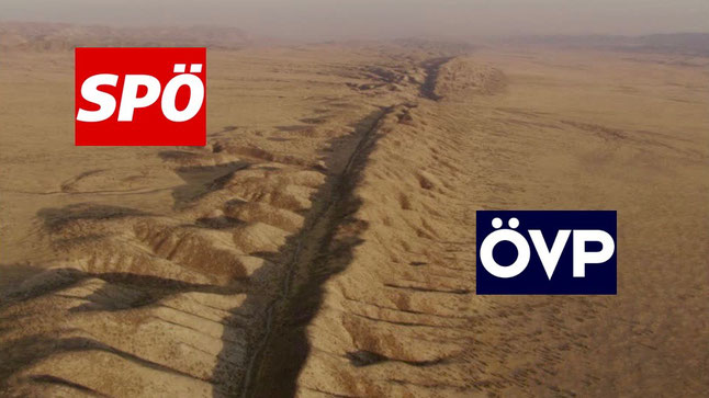 Graben zwischen SPÖ und ÖVP