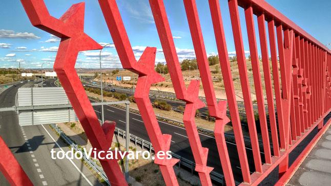 Puente sobre la M45 en El Cañaveral - El Cañaveral, Vicálvaro, Madrid