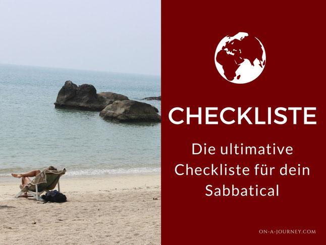 Sabbatical planen