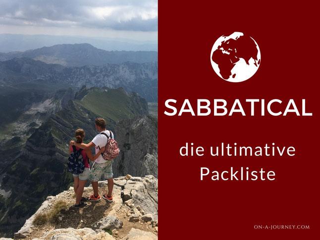 Packliste-Sabbatical