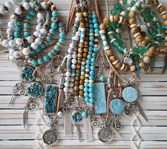 Inspirational crystal energy vegan jewellery handmade in Noosa