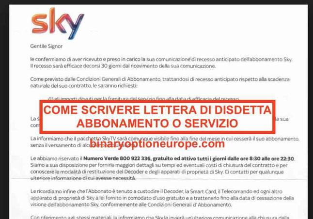 Come scrivere lettera di disdetta: recesso da contratti abbonamenti