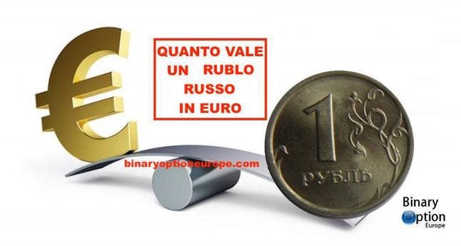 quanto vale un rublo russo in euro cambio rublo euro tempo reale