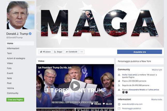 trump twitter facebook crolla in borsa Cambridge Analytica