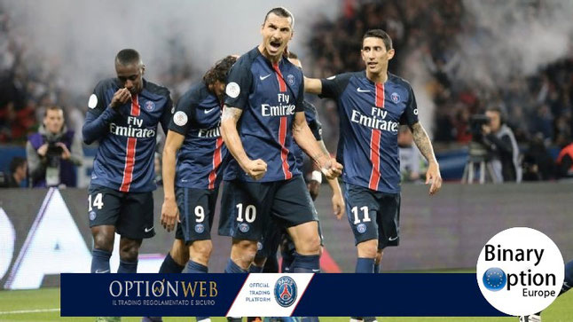 optionweb bonus deposito sponsor PSG calcio