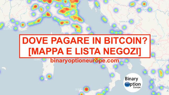 dove pagare in bitcoin in italia lista negozi mappa