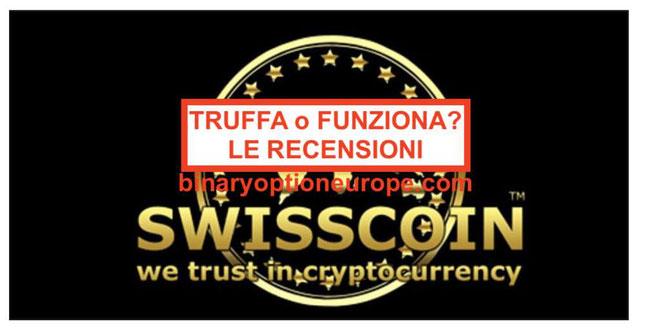 Swisscoin Italia truffa? Quotazione valore recensioni criptovaluta