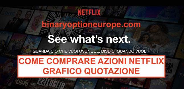 Comprare Azioni Netflix grafico quotazione tempo reale di NFLX guida