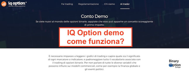 iq option demo italiano come funziona