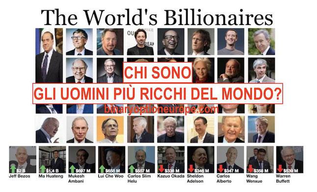 chi sono gli uomini più ricchi del mondo 2018 2019 2020 classifica aggiornata