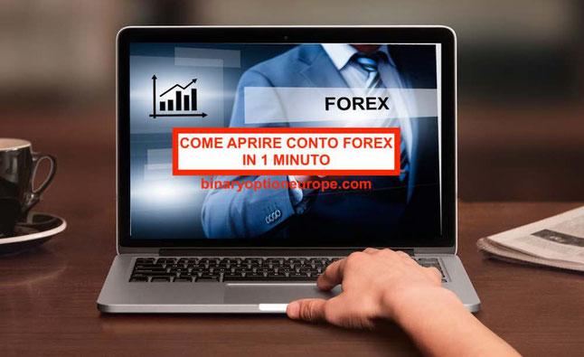 Come aprire un conto Forex gratis in 1 minuto senza rischi: passo passo