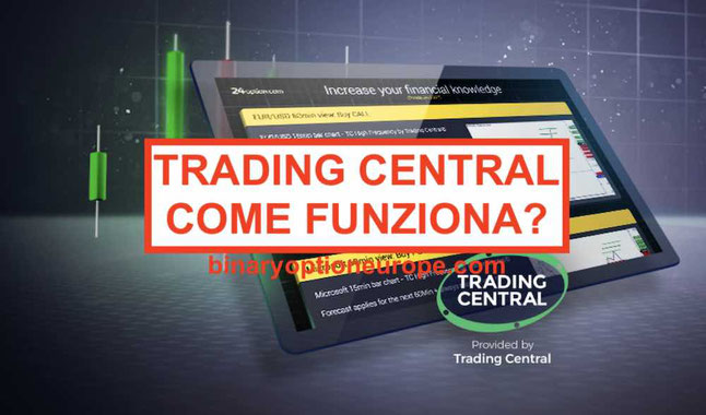 24option Trading Central: come funzionano le notifiche analisi MT4