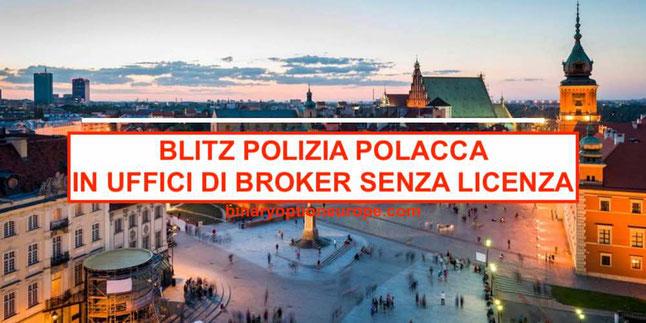 blitz arresti della polizia polacca a varsavia contro broker forex cfd truffa