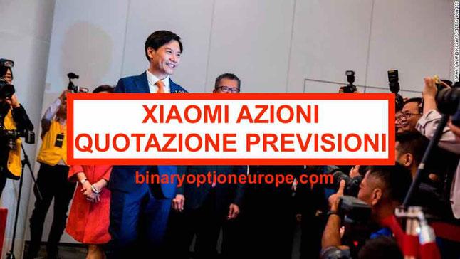 Quotazione in borsa IPO Xiaomi azioni quanto vale oggi in tempo reale
