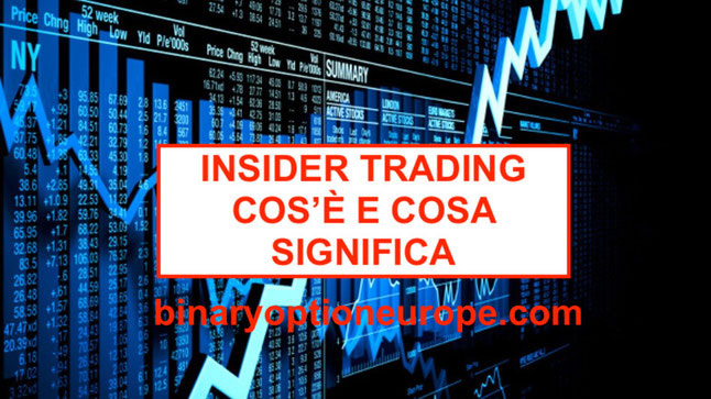insider trading cos'è significato italia coinbase bitcoin