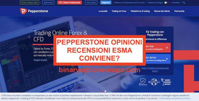 Pepperstone opinioni e recensioni sul broker ECN CFD Forex ESMA