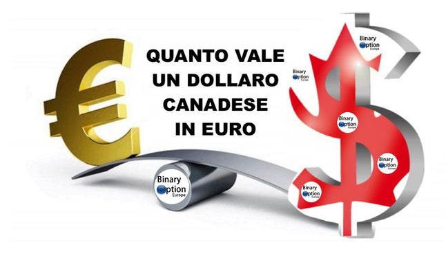 quanto vale un dollaro canadese in euro