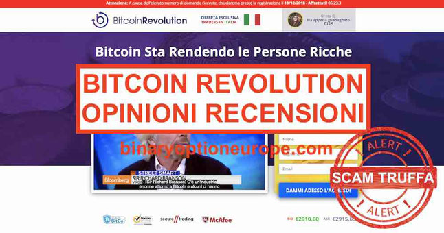 Bitcoin Revolution Truffa opinioni e recensioni Berlusconi e Baldini