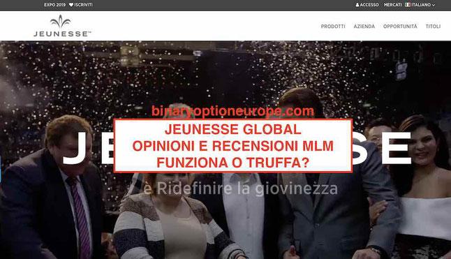 Jeunesse Global opinioni Italia negative funziona questo MLM truffa