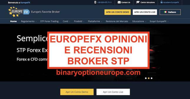 EuropeFX opinioni truffa o funziona Recensioni broker STP con MT4