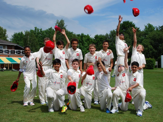Swiss U13 cricket team in southern England 2017
