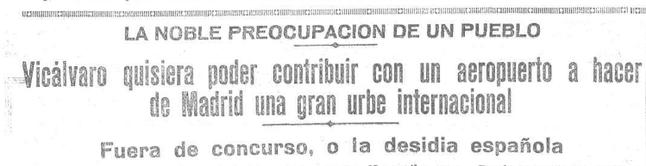Noticia aparecida en El Heraldo el 10 de enero de 1930