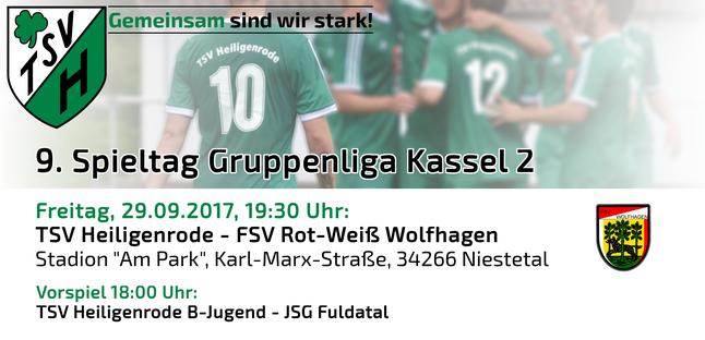 TSV Heiligenrode - FSV Rot-Weiß Wolfhagen