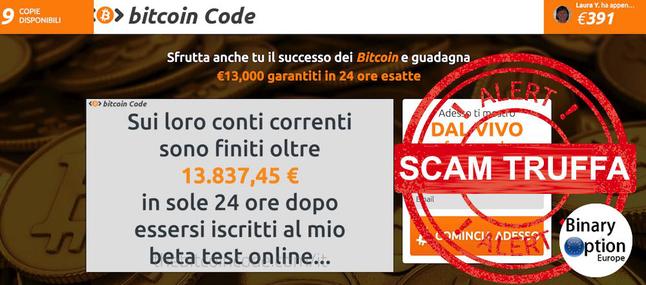 bitcoin code truffa recensione opinioni
