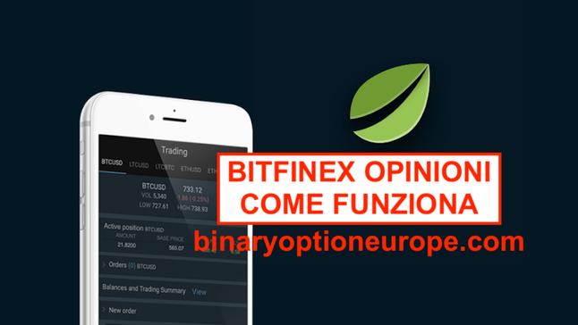 bitfinex opinioni come funziona cos'è euro criptovalute