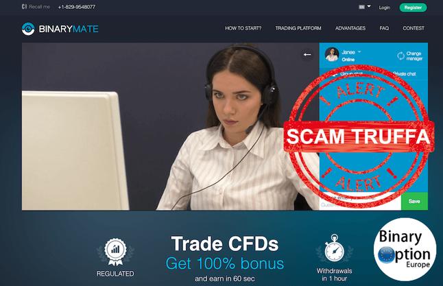 binarymate truffa scam
