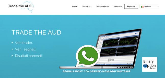 TRADE THE AUD segnali per opzioni binarie whatsapp TRUFFA