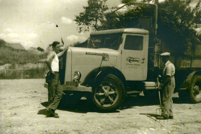 Erster Lastwagen der Firma Ernst Tschanz.