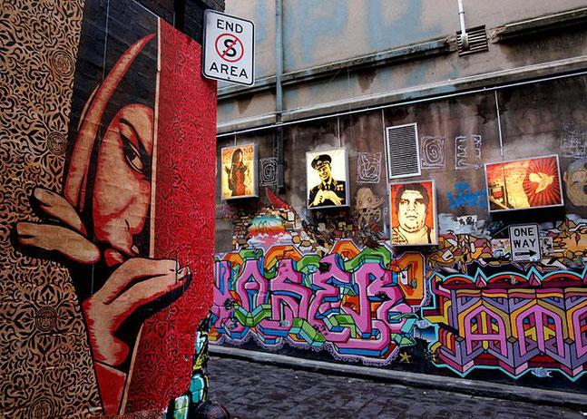 ※1:メルボルン、ホイザー・レーンのストリート・アート
