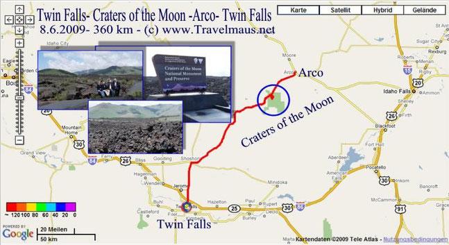 8.6.2009 Twin Falls - Twin Falls 360 km