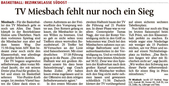 Bericht im Miesbacher Merkur am 18.4.2018 - Zum Vergrößern klicken