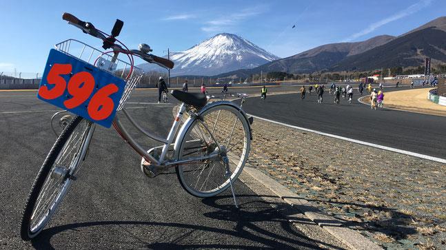 コースから見える富士山