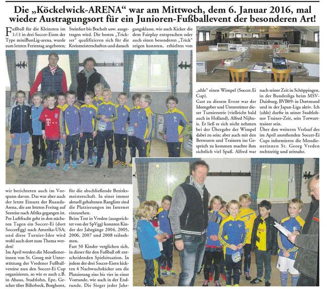 Alfred Neyhuis findet   EINS gegen EINS   im Soccer-Ei  Klasse