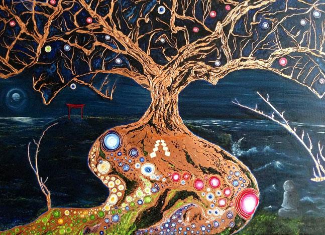 """""""El árbol de los deseos"""" - Óleo sobre lienzo"""