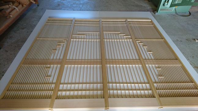 4枚引き丸窓抜き飾り障子