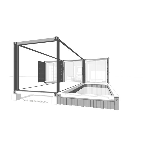 Small Footprint 5 Shipping Container Home By Heidi Mergl Architect Sustainable Recycled Adaptable Design
