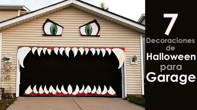 decoraciones de halloween para garage