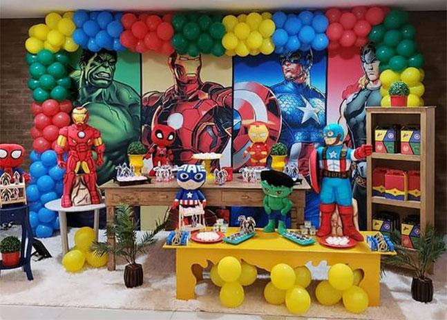 decoracion de super heroes