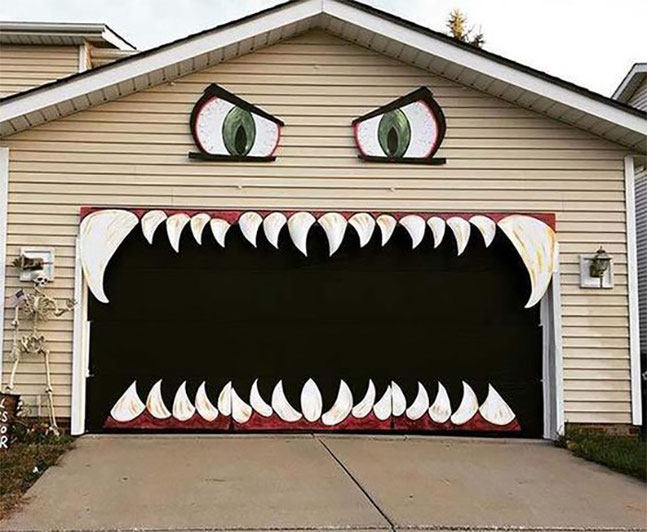 decoracion garage para halloween