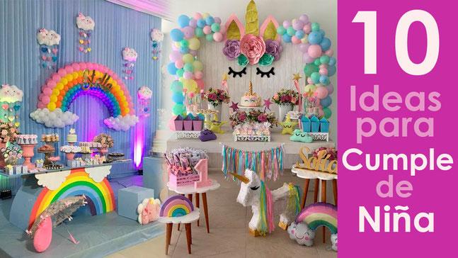 10 ideas para cumpleaños de niña