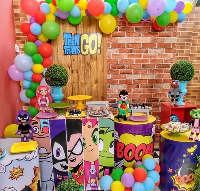 decoracion cumpleaños super heroes