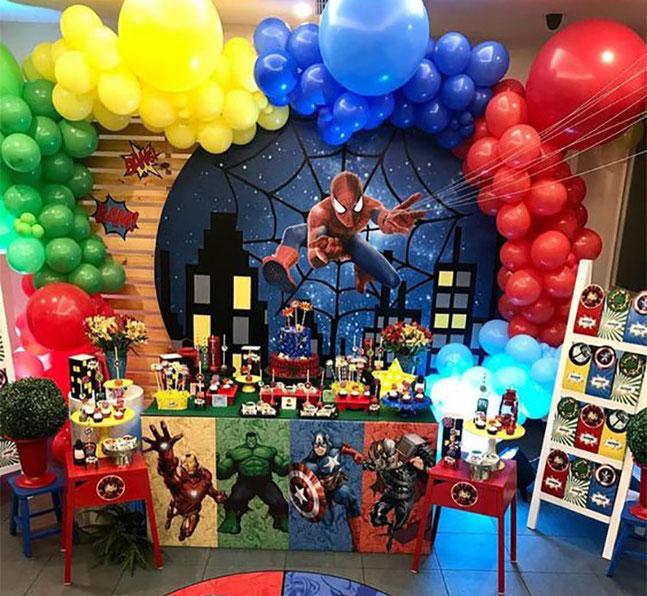 decoracion fiesta avengers