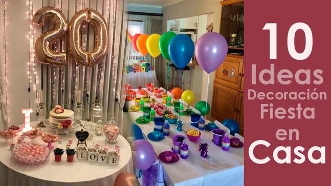 10 decoraciones para fiesta en casa