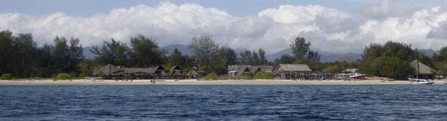 Bild: Insel Gili Meno bei Lombok / Indonesien